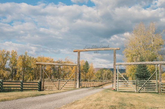 OH_Rio Alto Ranch front gate. In 1883 the Ings brothers became the second owners of the ranch and re-named it 'Rio Alto', which means High River. In 1950 the ranch was legally changed back to OH
