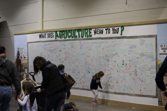Guests were invited to submit questions and write about their thoughts on agriculture in Alberta