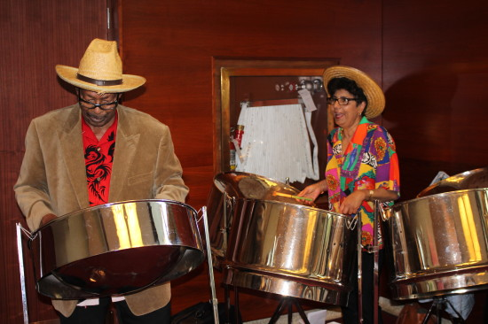 White Hat Award attendees were serenaded with a steel drum performance