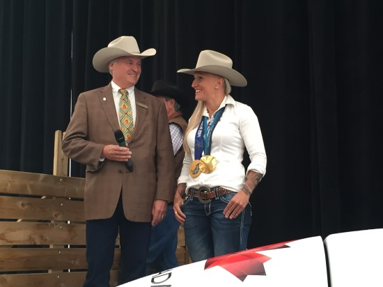 Pictured: President & Chairman Bill Gray and Kaillie Humphries