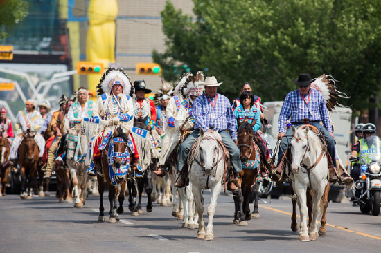 First Nations Parade downtown Calgary