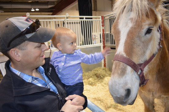 Children can get up close and personal with a variety of animals at Aggie Days