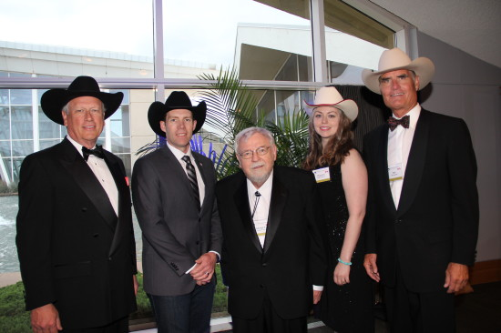 (L-R) Mike Nicola, board of director for National Cowboy and Western Heritage Museum, MP John Barlow, George S. Lane, Shannon Murray, historical specialist, Bob Thompson, immediate past president. Photo courtesy of the National Cowboy and Western Heritage Museum