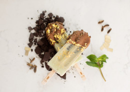 Golden Grasshopper Pie Pop