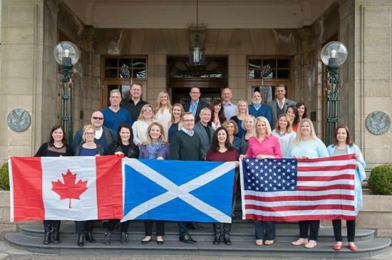 Our group at the Gleneagles Resort