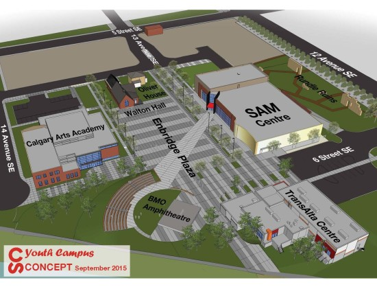 Rendering of our newest construction project - Youth Campus.