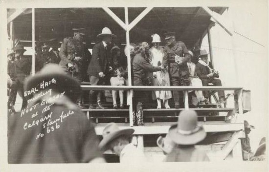 Haig met Hoot Gibson, movie star, rodeo champion and the 1925 Stampede Parade Marshal.