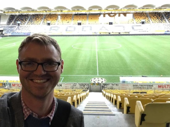 Showband Director Aaron Park visited Parkstad Limburg Stadium in Kerkrade, where the Showband will compete in July.