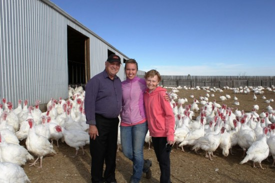 Farming family at Winters Turkeys