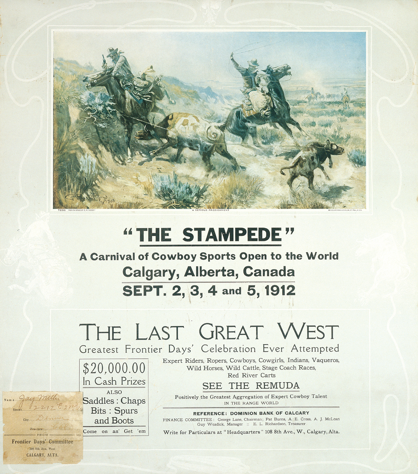 Historical Posters 1912 Calgary Stampede