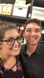 Holly & Jake, 2018 Historical Collections Assistants