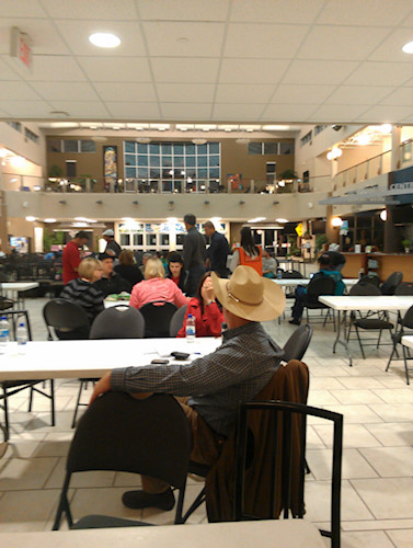 The view at 2 a.m. during Night One at the Centre Street Reception Centre