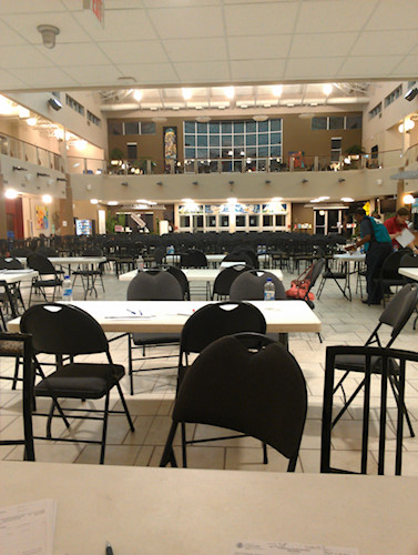 The view at 5 a.m. during Night One at the Centre Street Reception Centre