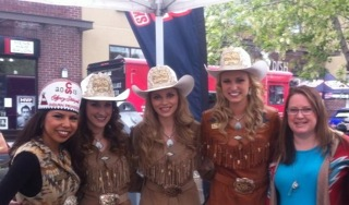 Cindy Browning with the Calgary Stampede Royalty.