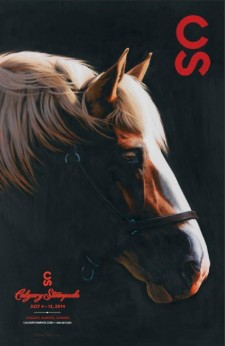 2014 Stampede Poster; I guess it isn't just the Chinese Zodiac celebrating the horse this year!