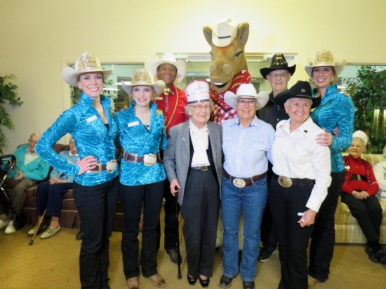 Princesses Shannon, Stephanie, and I with Harry the Horse and members of the Promotions Committee.  A big thanks to Janine of Janine's Custom Creations for our beautiful new shirts!