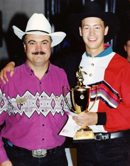 Paul accepting our Champion's trophy in 1992.
