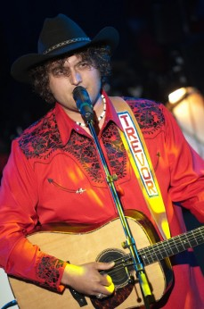 Trevor performing on the Stampede Talent Search stage in 2010.