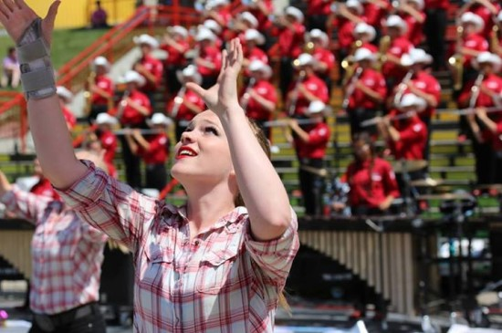 """The Showband is known for it's highly engaging """"stand-still"""" performances. The Saddledome Steps are definitely a crowd favorite!"""