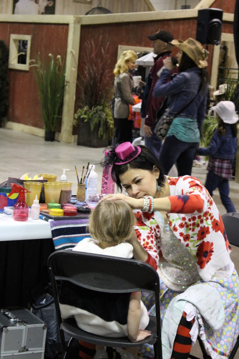 Free face painting for Giddy Up attendees.