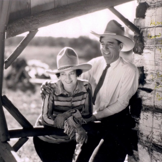 Pictured: Grace Bensell (Florence LaDue) and Guy Weadick