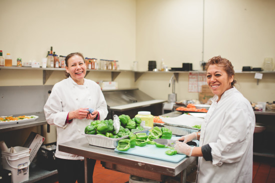 Pictured: farm to table dishes prepped by Calgary Stampede employees