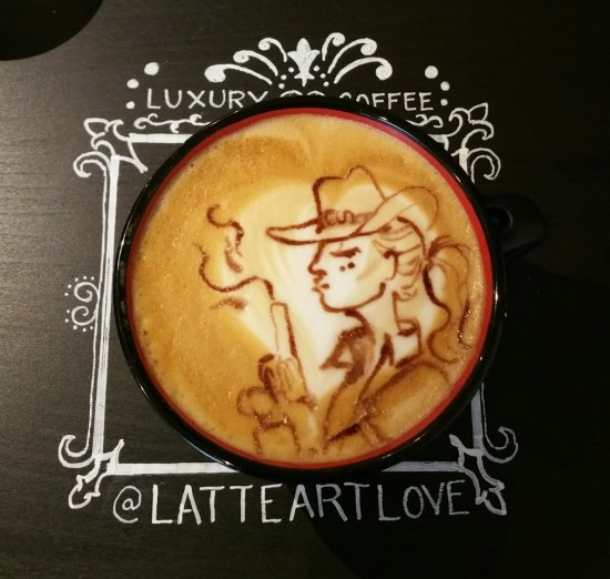 Latte Art Love cowgirl