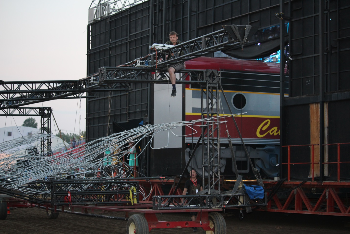 Astonishing Transalta Grandstand Show Stage Assembly Blog