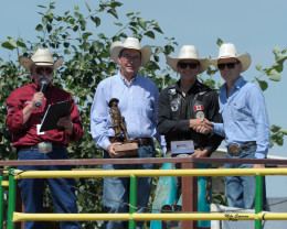 Lane Cust awarded the 2015 Calgary Stampede Novice Tour Championship