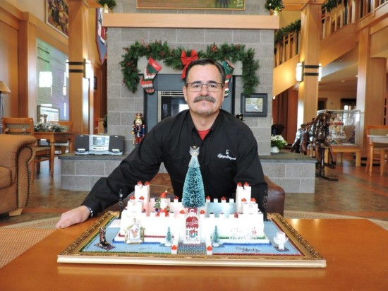 Pictured: Chef Breton hand delivered his sugar masterpiece to Ronald McDonald House on Sunday, December 20, 2015