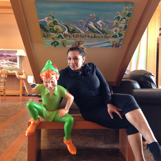Pictured: Astrid from the Stampede Porter team touring one of the fantastic playrooms at the Southern Alberta Ronald McDonald House