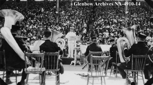 Sousa's Band performing at the 1919 Calgary Exhibition. Glenbow Archives NA-4910-14.