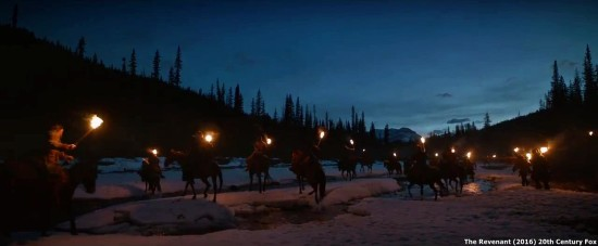 The-Revenant-night torches