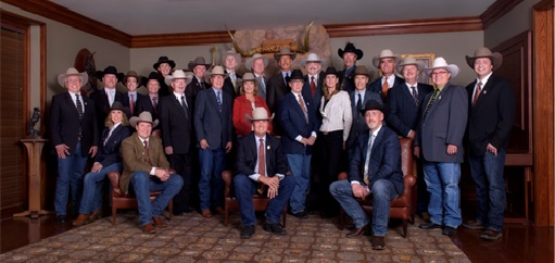 The 2016 Calgary Stampede Board of Directors Front: (left to right) Dana Peers, second vice-chairman; Bill Gray, president & chairman of the board; David Sibbald, first vice-chairman Middle: (left to right) Bob Park, Tom O'Leary, Kate Thrasher (seated), Will Osler, Councillor Andre Chabot, Mike O'Connor, Paul Polson, Toni Dixon, Garry Holbrook, Teri McKinnon, Bob Taylor, Roc Spence, Councillor Shane Keating, Steve McDonough Back: (left to right) Maggie Schofield, Dale Befus, Shane Doig, John Third, Byron Hussey, Ted Haney, Marcel Coutu, Bob Thompson Not pictured: His Worship Mayor Naheed Nenshi