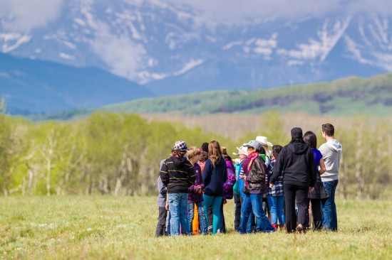 Students explore the vast lands at the Calgary Stampede OH Ranch