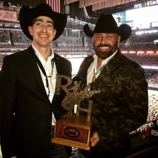 Justin Denis and Rob Grundy of the Calgary Stampede Rodeo committee