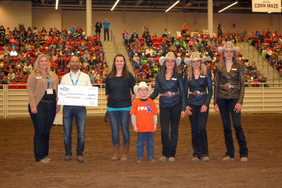 We got to help present awards of $2,500 to two deserving schools for the Aggie Days Art Challenge during the rodeos