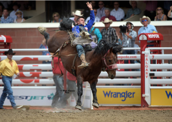 Shadow Warrior carries Caleb Bennett at the Calgary Stampede