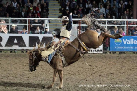 Former Calgary Stampede Champion Dustin Flundra on Lush Margie in Armstrong