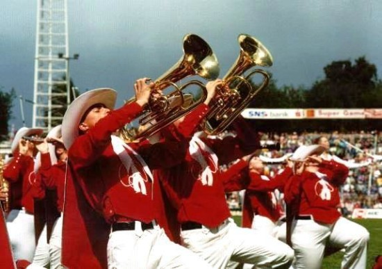 Showband has previously competed in WMC six times, including in 1993 as shown here.