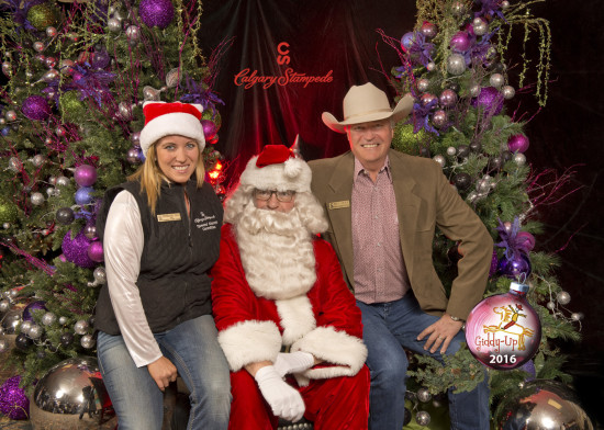 Bill and daughter, Stephanie, at Giddy Up Christmas