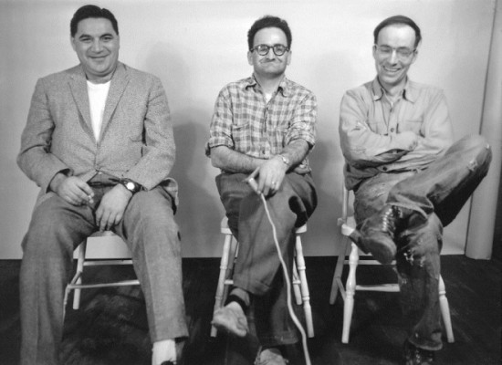 Bert Smith featured here on the right. The picture was taken in 1960 in photographer Gil Garon's (centre) studio in High River. Courtesy of the Museum of the Highwood.
