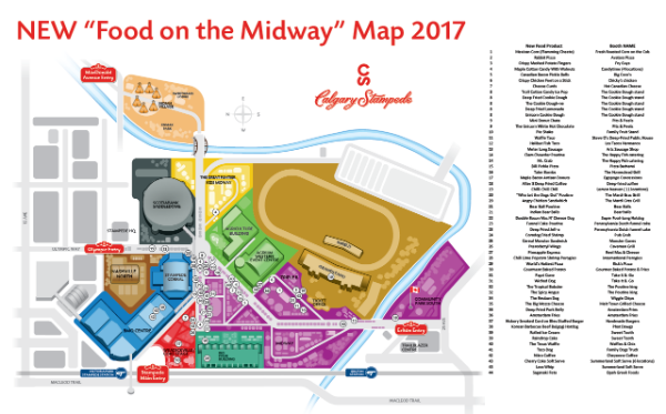 Calgary Stampede Map Let your hunger be your guide – introducing the 2017 Calgary  Calgary Stampede Map