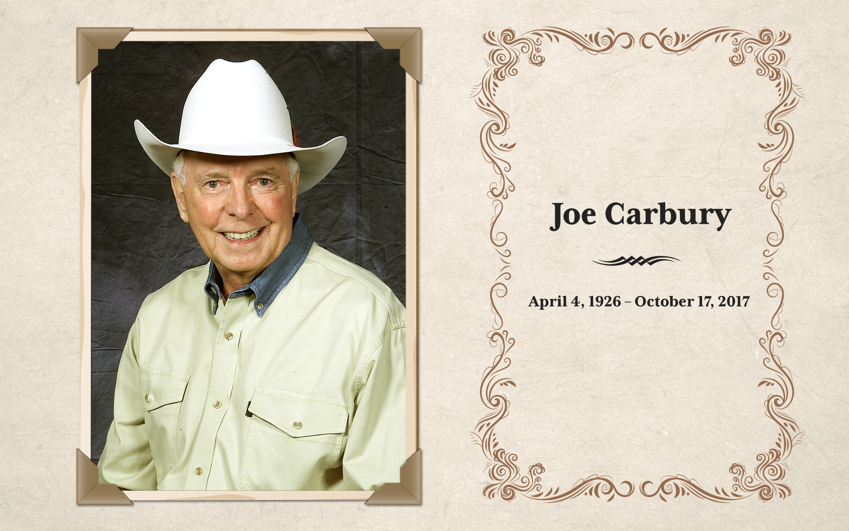 Farewell To Joe Carbury The Voice Of The Calgary Stampede