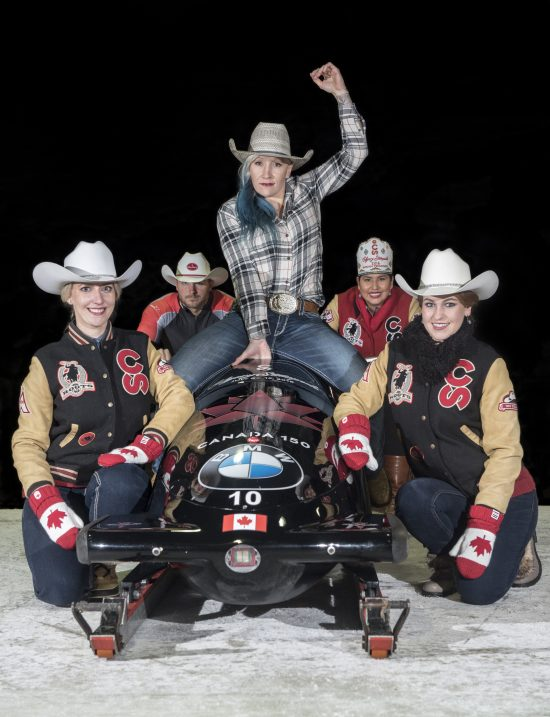 The Calgary Stampede Cheers On The Canadian Bobsled And