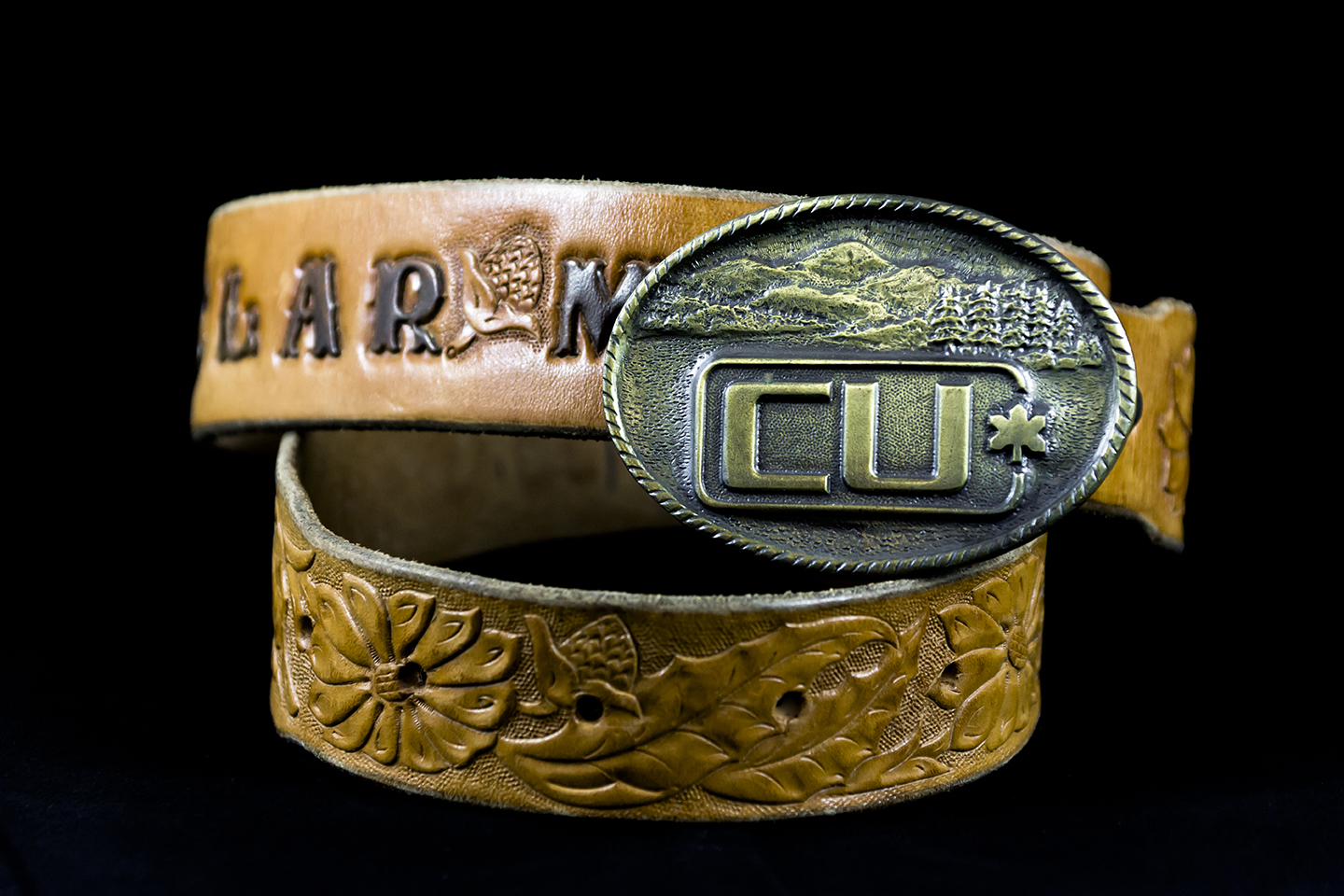 Clar Manning Belt With Cu Buckle Calgary Stampede