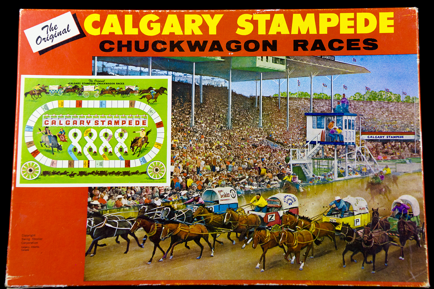 Chuckwagon Races Board Game Calgary Stampede